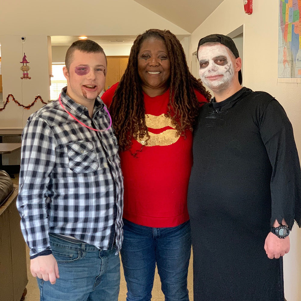 Clients dressed for Halloween