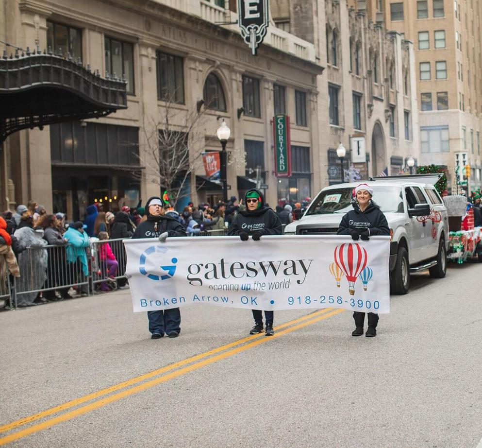 Gatesway in Tulsa Christmas Parade